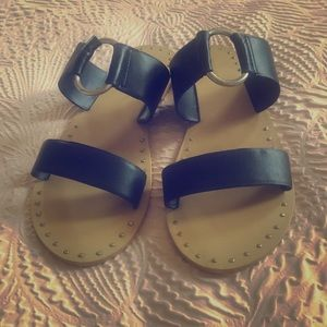 Topshop leather sandals with ring detail brand new